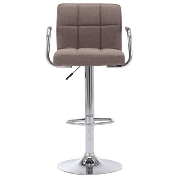 vidaXL Barska stolica od tkanine bež