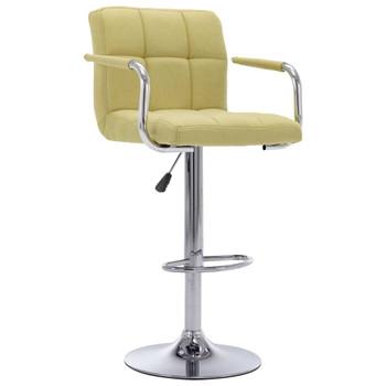 vidaXL Barske stolice od tkanine 2 kom zelene
