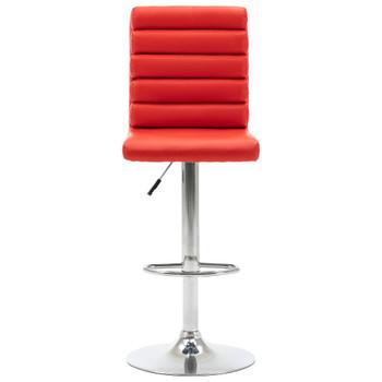 vidaXL Barska stolica od umjetne kože crvena