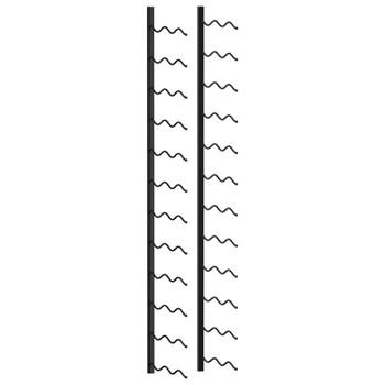 vidaXL Zidni stalak za vino za 24 boce crni željezni