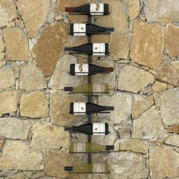 vidaXL Zidni stalak za vino za 9 boca crni željezni