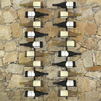 vidaXL Zidni stalci za vino za 20 boca 2 kom crni metalni