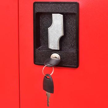 vidaXL Ormar za alat s kutijom čelični 90 x 40 x 180 cm crveno-crni