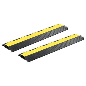 vidaXL Rampe za zaštitu kabela 2 kom s 2 kanala gumene 101,5 cm