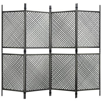 vidaXL Panel za ogradu od poliratana 2,4 x 2 m antracit