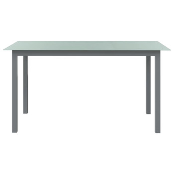 vidaXL Vrtni stol svjetlosivi 150 x 90 x 74 cm od aluminija i stakla