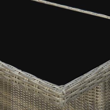 vidaXL Vrtni stol smeđi od poliratana i kaljenog stakla