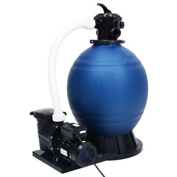 vidaXL Pješčani filtar sa 7-smjernim ventilom i crpkom od 1000 W