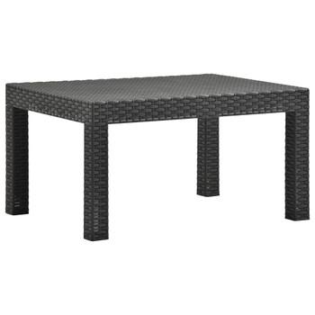 vidaXL Vrtni stol antracit 58 x 58 x 41 cm PP