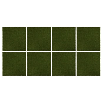 vidaXL Pločice s umjetnom travom 8 kom 50 x 50 x 2,5 cm gumene