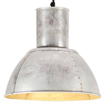 vidaXL Viseća svjetiljka 25 W srebrna okrugla 28,5 cm E27