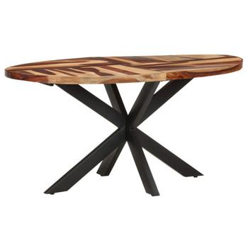 vidaXL Blagovaonski stol 160x90x75cm masivno bagremovo drvo i šišam