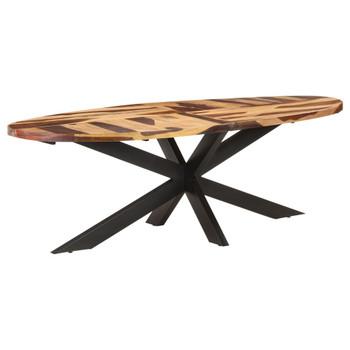 vidaXL Blagovaonski stol 240 x 100 x 75 cm drvo bagrema i šišam