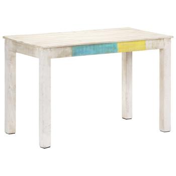 vidaXL Blagovaonski stol bijeli 120x60x76 cm od masivnog drva manga