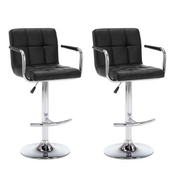 vidaXL Barski stolci od umjetne kože 2 kom crne