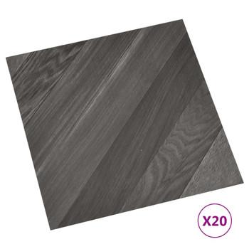 vidaXL Samoljepljive podne obloge 20 kom PVC 1,86 m² sive prugaste