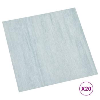 vidaXL Samoljepljive podne obloge 20 kom PVC 1,86 m² zelene