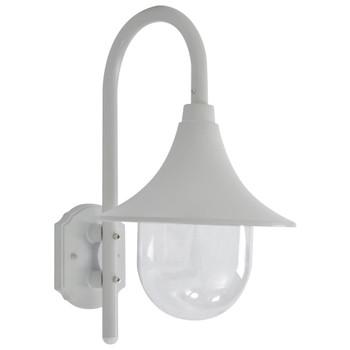 vidaXL Vrtna zidna svjetiljka E27 42 cm aluminijska bijela