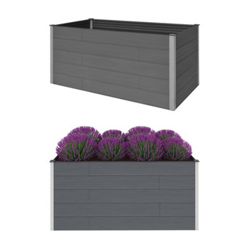 vidaXL Vrtna posuda za sadnju siva 200 x 100 x 91 cm WPC
