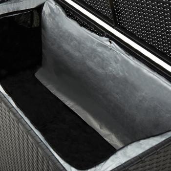 vidaXL Vrtna kutija za pohranu od poliratana 100 x 50 x 50 cm crna
