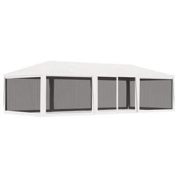 vidaXL Šator za zabave s 4 mrežasta bočna zida 4 x 9 m bijeli