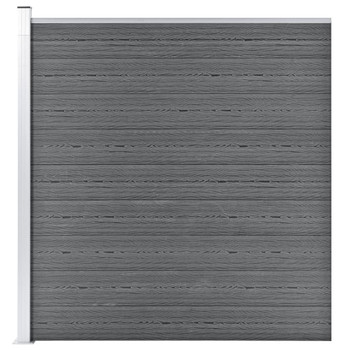 vidaXL Vrtna ograda WPC 175 x 186 cm siva