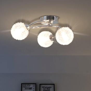 vidaXL Stropna svjetiljka za 3 žarulje G9 200 W