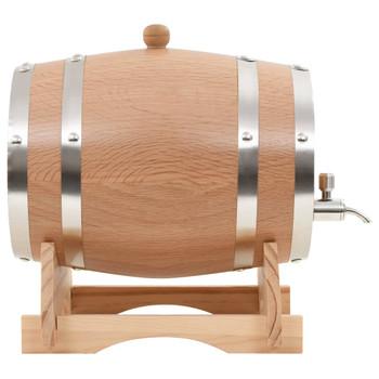 vidaXL Bačva za vino sa slavinom od masivne hrastovine 6 l
