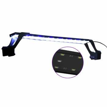 vidaXL Akvarijsko LED svjetlo sa stezaljkama 55 - 70 cm plavo-bijelo
