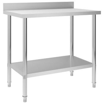 vidaXL Kuhinjski radni stol 100 x 60 x 93 cm od nehrđajućeg čelika