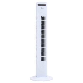 vidaXL Stupni ventilator: daljinski upravljač, tajmer Φ24x80 cm bijeli