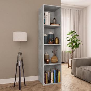 vidaXL Ormarić za knjige/TV siva boja betona 36x30x143 cm od iverice