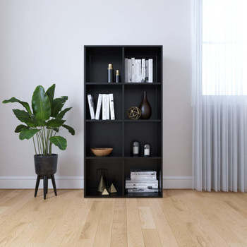 vidaXL Ormarić za knjige / komoda crna 66 x 30 x 130 cm od iverice