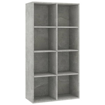 vidaXL Ormarić za knjige / komoda boja betona 66 x 30 x 130 cm iverica