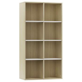 vidaXL Ormarić za knjige / komoda bijeli i hrast 66x30x130 cm iverica