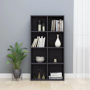 vidaXL Ormarić za knjige / komoda sjajna siva 66x30x130 cm iverica