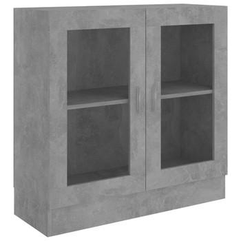 vidaXL Vitrina siva boja betona 82,5 x 30,5 x 80 cm od iverice