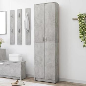vidaXL Ormar za hodnik siva boja betona 55 x 25 x 189 cm od iverice