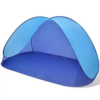 Vanjski sklopivi šator za plažu vodootporna svjetlo plava tenda
