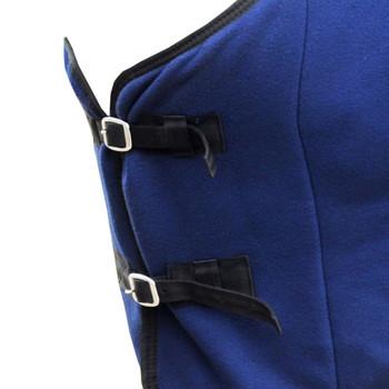 Vuneni Pokrivač za Konje s Pojasom 135 cm plavi