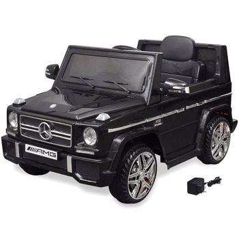 vidaXL Električni autić Mercedes Benz G65 SUV s 2 motora crni