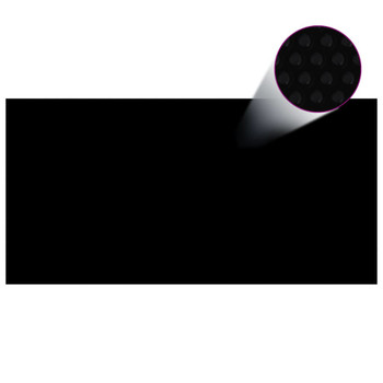 vidaXL Pokrivač za bazen crni 400 x 200 cm PE