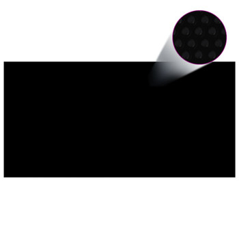 vidaXL Pokrivač za bazen crni 488 x 244 cm PE