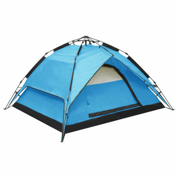 vidaXL Prigodni šator za kampiranje za 2-3 osobe 240x210x140 cm plavi