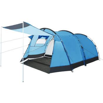vidaXL Tunelski šator za kampiranje za 4 osobe plavi
