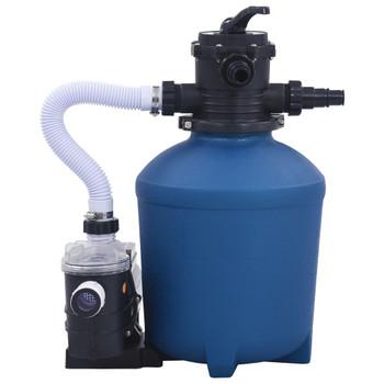 vidaXL Crpka s pješčanim filtrom i mjeračem vremena 530 W 10980 L/h