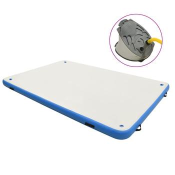 vidaXL Plutajuća platforma na napuhavanje plavo-bijela 300x300x15 cm