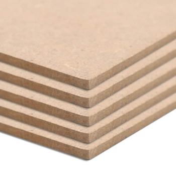 vidaXL Ploče od MDF-a 4 kom kvadratne 60 x 60 cm 12 mm