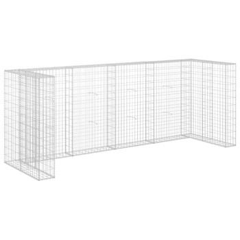 vidaXL Gabionski zid za kante od pocinčanog čelika 320 x 100 x 120 cm