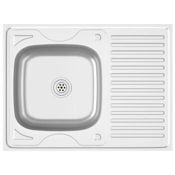 vidaXL Kuhinjski sudoper srebrni 800x600x155 mm od nehrđajućeg čelika
